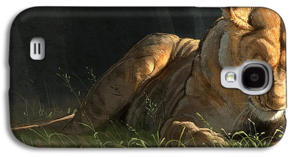 Lioness Galaxy S4 Cases - Siesta 2 Galaxy S4 Case by Aaron Blaise