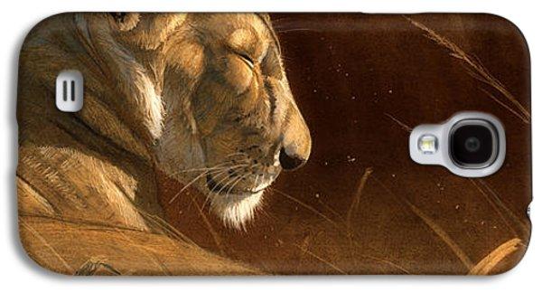 Wildlife Digital Galaxy S4 Cases - Siesta Galaxy S4 Case by Aaron Blaise