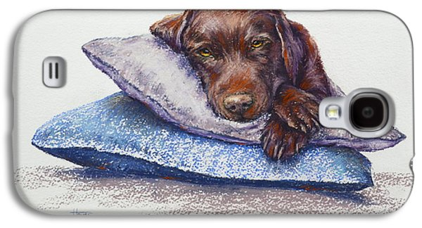 Dogs Pastels Galaxy S4 Cases - Siesta Galaxy S4 Case by Cynthia House