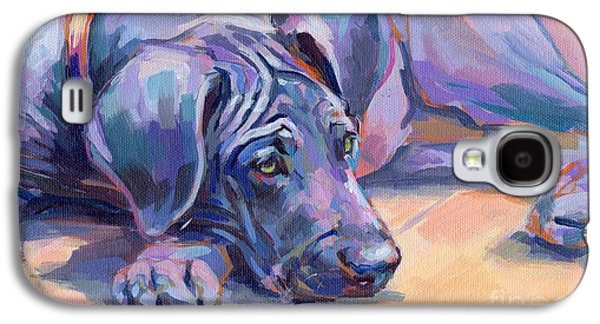 Puppies Galaxy S4 Cases - Sigh Galaxy S4 Case by Kimberly Santini