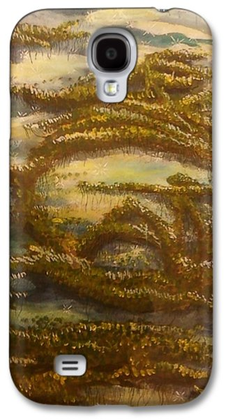 Alga Paintings Galaxy S4 Cases - Sigil for Serenity Galaxy S4 Case by Alexandria Weaselwise Busen