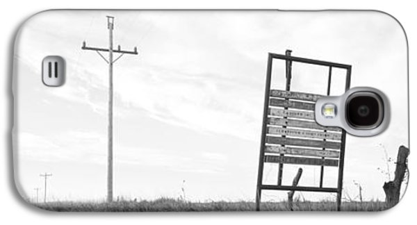 Telephone Poles Galaxy S4 Cases - Signboard In The Field, Manhattan Galaxy S4 Case by Panoramic Images