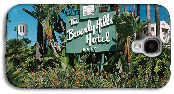Signboard Of A Hotel, Beverly Hills Galaxy S4 Case by Panoramic Images