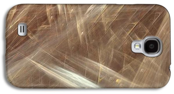 Abstract Digital Paintings Galaxy S4 Cases - Signs In The Sand No.2 Galaxy S4 Case by Malcolm Regnard