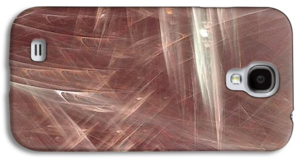 Abstract Digital Paintings Galaxy S4 Cases - Signs In The Sand No.3 Galaxy S4 Case by Malcolm Regnard