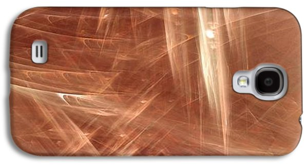 Abstract Digital Paintings Galaxy S4 Cases - Signs In The Sand No.4 Galaxy S4 Case by Malcolm Regnard