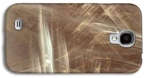 Abstract Digital Paintings Galaxy S4 Cases - Signs In The Sand No.1 Galaxy S4 Case by Malcolm Regnard