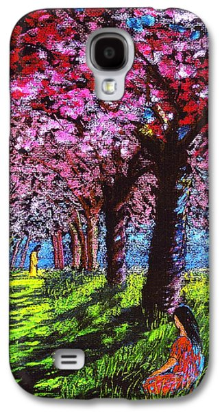 Cherry Blossoms Galaxy S4 Cases - Silent Communion Galaxy S4 Case by Jane Small