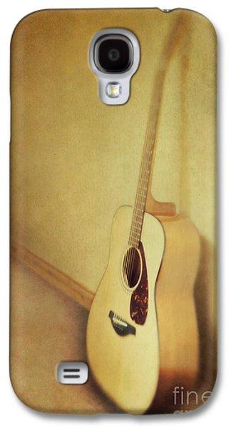 Life Galaxy S4 Cases - Silent Guitar Galaxy S4 Case by Priska Wettstein