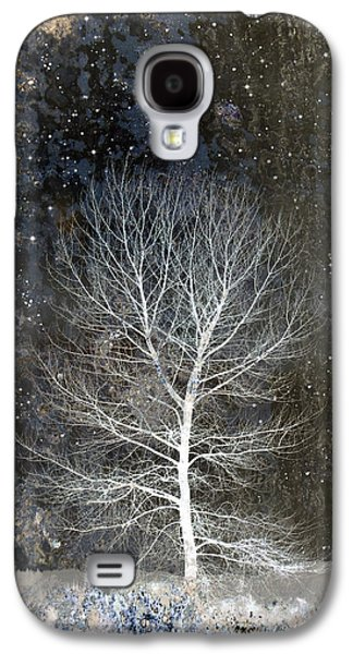 Snowy Digital Art Galaxy S4 Cases - Silent Night Galaxy S4 Case by Carol Leigh