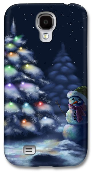 Starry Paintings Galaxy S4 Cases - Silent night Galaxy S4 Case by Veronica Minozzi