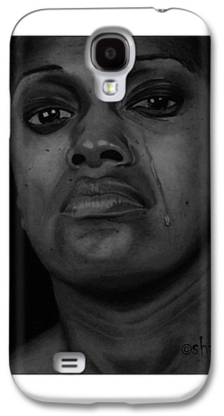 Shed Drawings Galaxy S4 Cases - Silent Tears Galaxy S4 Case by Barnabas Adeleke