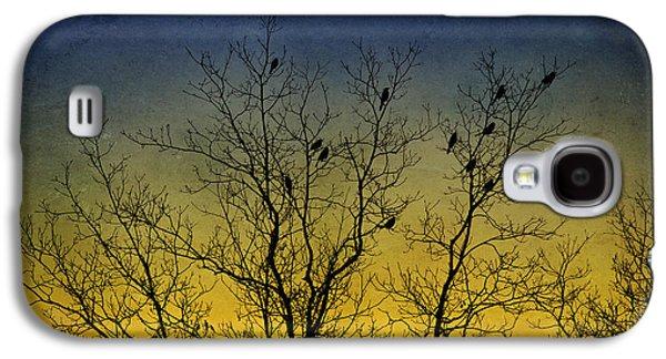 Rollo Digital Art Galaxy S4 Cases - Silhouette Birds Sequel Galaxy S4 Case by Christina Rollo