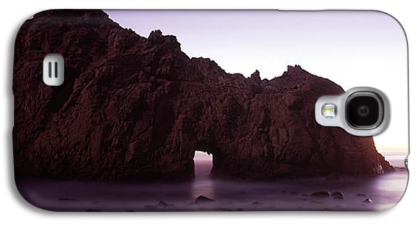 Beach Photography Galaxy S4 Cases - Silhouette Of A Cliff On The Beach Galaxy S4 Case by Panoramic Images