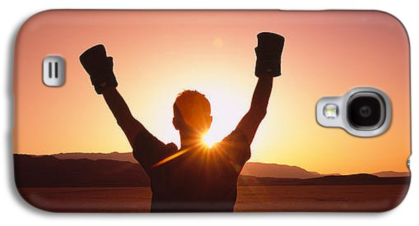 Boxer Galaxy S4 Cases - Silhouette Of A Person Wearing Boxing Galaxy S4 Case by Panoramic Images
