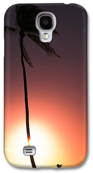 Jogging Galaxy S4 Cases - Silhouette Of A Woman Running Galaxy S4 Case by Panoramic Images