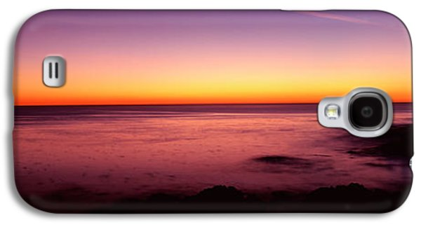 Beach Photography Galaxy S4 Cases - Silhouette Of Lone Cypress Tree Galaxy S4 Case by Panoramic Images