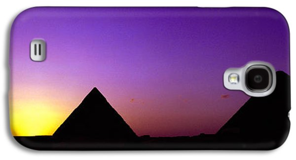 Civilization Galaxy S4 Cases - Silhouette Of Pyramids At Dusk, Giza Galaxy S4 Case by Panoramic Images