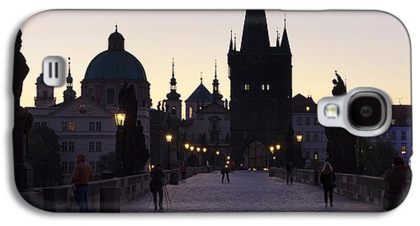 Francis Photographs Galaxy S4 Cases - Silhouette Of Statues On Charles Bridge Galaxy S4 Case by Panoramic Images