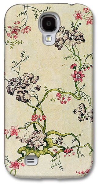 Floral Tapestries - Textiles Galaxy S4 Cases - Silk design Galaxy S4 Case by Anna Maria Garthwaite