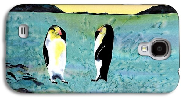 Dye Tapestries - Textiles Galaxy S4 Cases - Silk Penguins Galaxy S4 Case by Carolyn Doe
