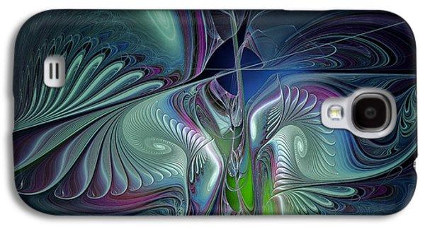 Contemplative Digital Galaxy S4 Cases - Silky Nights-Fractal Design Galaxy S4 Case by Karin Kuhlmann