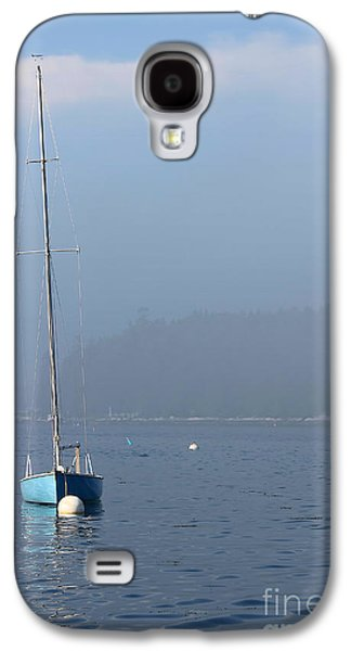 Docked Sailboat Galaxy S4 Cases - Sill Boat in Maine Galaxy S4 Case by Heidi Piccerelli