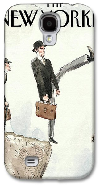 Silly Walk Off A Cliff Galaxy S4 Case by Barry Blitt