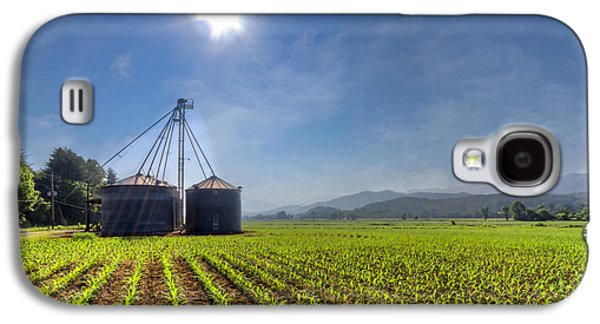 Haybale Galaxy S4 Cases - Silos Galaxy S4 Case by Debra and Dave Vanderlaan