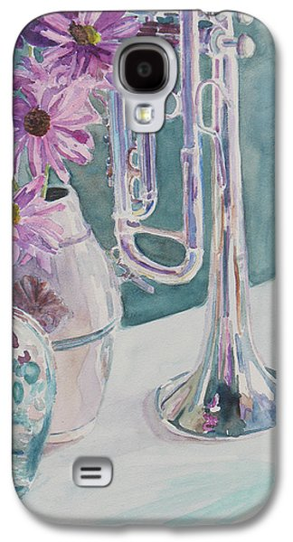 Depression Paintings Galaxy S4 Cases - Silver and Glass Music Galaxy S4 Case by Jenny Armitage