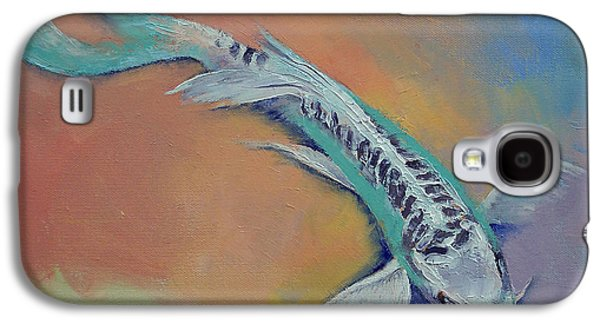Butterfly Koi Galaxy S4 Cases - Silver and Jade Galaxy S4 Case by Michael Creese