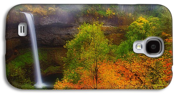 Darren Galaxy S4 Cases - Silver Falls Pano Galaxy S4 Case by Darren  White