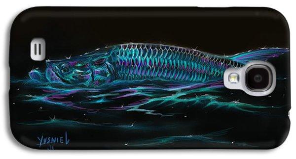Blue Marlin Galaxy S4 Cases - Silver Flash Galaxy S4 Case by Yusniel Santos