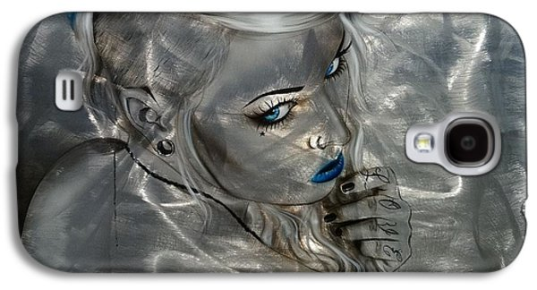 Gothic Paintings Galaxy S4 Cases - Silver Flight Galaxy S4 Case by Christian Chapman Art