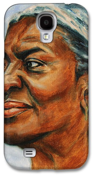 African-american Galaxy S4 Cases - Silver Girl Galaxy S4 Case by Xueling Zou