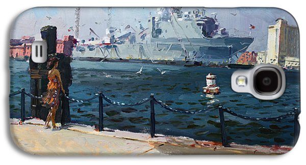 Harbor Paintings Galaxy S4 Cases - Silver Morning Galaxy S4 Case by Ylli Haruni
