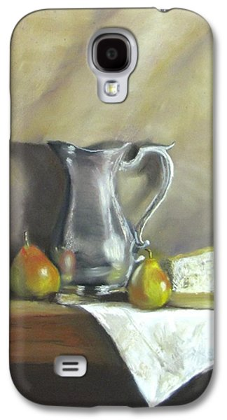 Jack Skinner Galaxy S4 Cases - Silver Pitcher With Pears Galaxy S4 Case by Jack Skinner