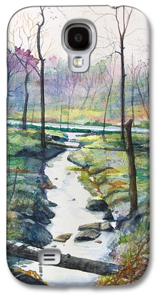 Early Spring Paintings Galaxy S4 Cases - Silver Ribbon Stream Galaxy S4 Case by Patricia Allingham Carlson