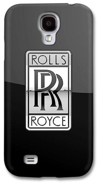 Cave Digital Galaxy S4 Cases - Rolls Royce - 3D Badge on Black Galaxy S4 Case by Serge Averbukh