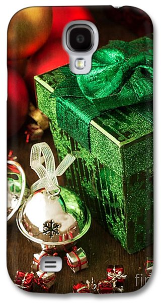 Gift Photographs Galaxy S4 Cases - Silver Sleigh Bells Galaxy S4 Case by Edward Fielding