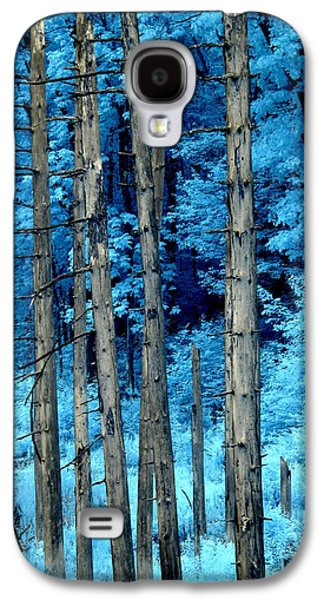 Surreal Landscape Galaxy S4 Cases - Silver Trees Galaxy S4 Case by Luke Moore