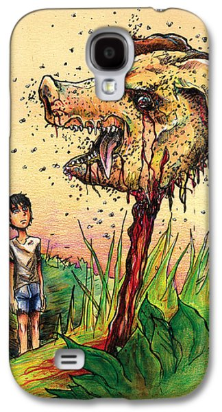 Flies Mixed Media Galaxy S4 Cases - Simon and the Beast Galaxy S4 Case by John Ashton Golden