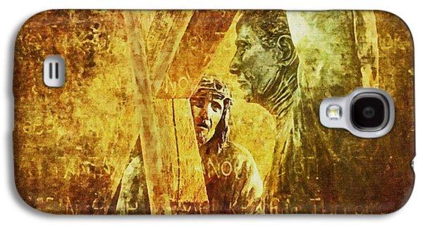 Lianne_schneider Via Dolorosa Print Digital Art Galaxy S4 Cases - Simon Helps Jesus Via Dolorosa 5 Galaxy S4 Case by Lianne Schneider