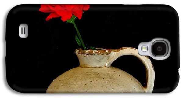 Simple Carnation In Pottery Galaxy S4 Case by Marsha Heiken