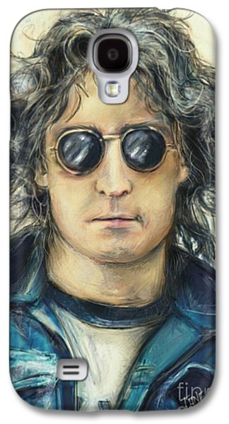 Beatles Galaxy S4 Cases - Simply John Lennon Galaxy S4 Case by Mark Tonelli