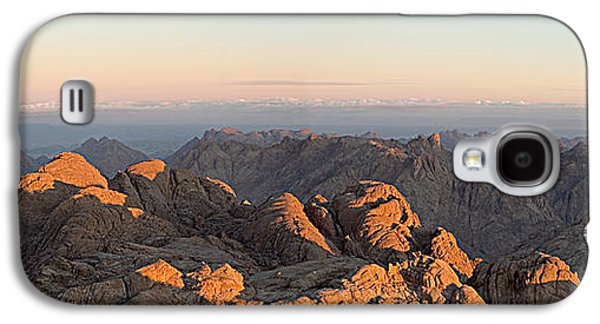 Bible Pyrography Galaxy S4 Cases - Sinai Mountains Just After Sunrise Galaxy S4 Case by Julis Simo