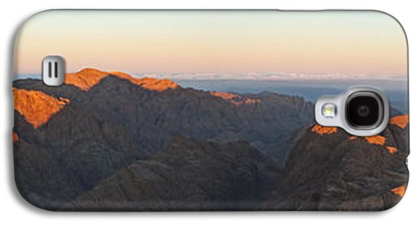 Bible Pyrography Galaxy S4 Cases - Sinai View From St. Catherine Montain on Sunrise Galaxy S4 Case by Julis Simo