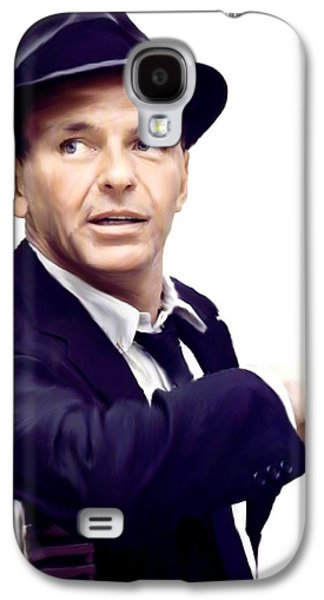 Street Drawings Galaxy S4 Cases - Sinatra   Frank  Sinatra Galaxy S4 Case by Iconic Images Art Gallery David Pucciarelli