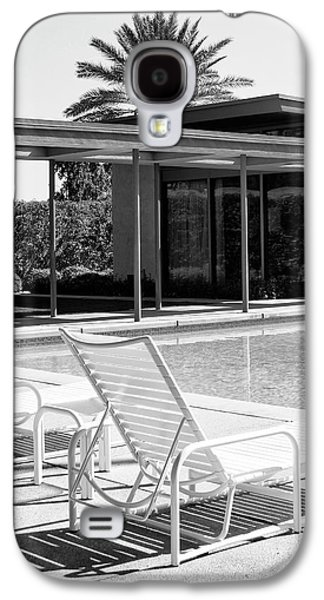 Lounge Galaxy S4 Cases - SINATRA POOL BW Palm Springs Galaxy S4 Case by William Dey