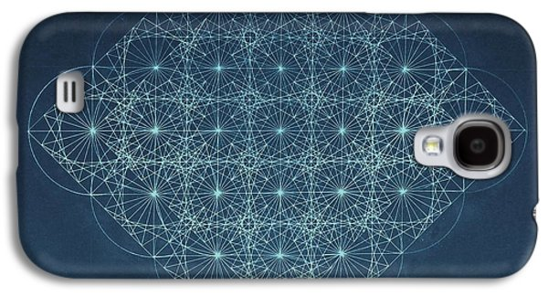 Black Drawings Galaxy S4 Cases - Sine Cosine and Tangent Waves Galaxy S4 Case by Jason Padgett